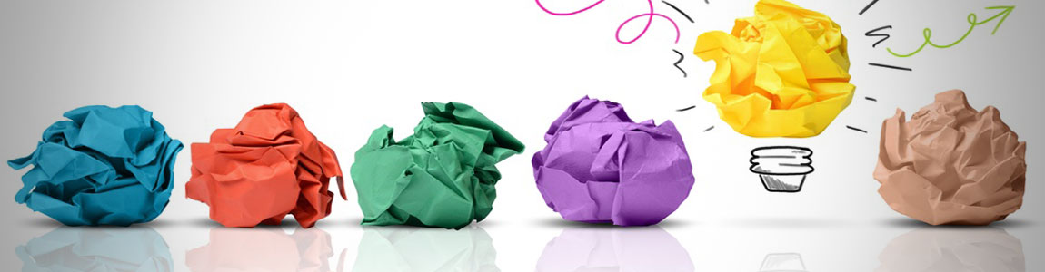 colored paper idea ball