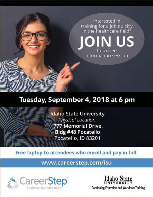Career Step Open Hourse - Sept 4th, 2018 at ISU RFC Building at 6:00 p.m.