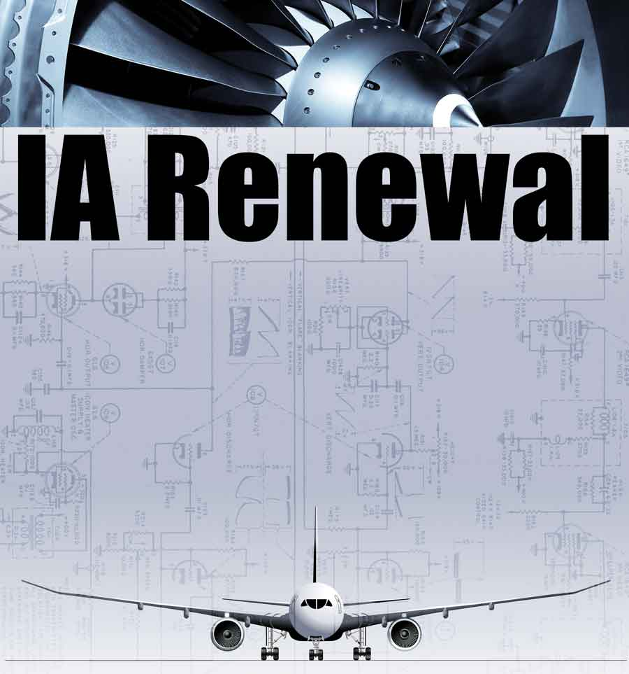 FAA IA Renewal Poster - Large Jet Engine