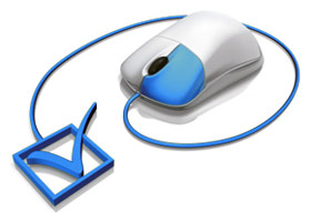 Online click mouse graphic